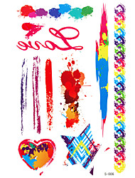 1 - Autres - Multicolore - Motif - 22.4 cm / 14 cm / 0.1 cm - en Papier - Tatouages Autocollants - royal love -Enfant / Homme / Girl /