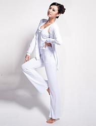 Yoga Ensemble de Vêtements/Tenus Pantalon + Tops Respirable / mèche / Matériaux Légers Extensible Vêtements de sport Femme - LefanYoga /