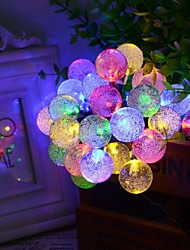 6.5M 30LED Bubble Shape Solar String Lights Fine Wedding Lights Christmas Decoration Lights