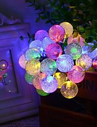 Casamento 6,5 milhões de 30LED bolha forma seqüência de luzes solares multa luzes decoração do Natal luzes