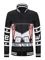 Men's Fashion Casual Hip Hop Long Sleeved Single Breasted Jacket
