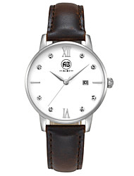 AIBI® Women's Watch Simple principle Imitation Water Resistant Diamond Dress Watch Silver Brown Wrist Watch For Women Cool Watches With Watch Box