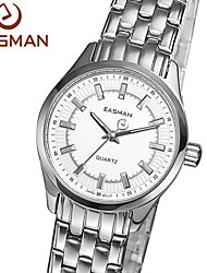 EASMAN® Brand Womens Watches Luxury 2015 New Quartz Watch Steel Silver White Wristwatches For Women Watch Cool Watches Unique Watches