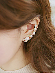 Ear Cuffs Pearl Imitation Pearl Rhinestone Alloy Silver Golden Jewelry Wedding Party Daily Casual 1pc