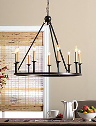 MAX:60W Chandelier ,  Country Painting Feature for Mini Style Metal Bedroom / Dining Room / Entry / Hallway