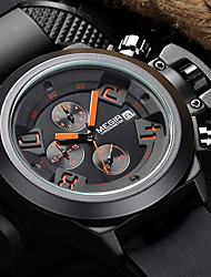 MEGIR® 2015 Top Men Quartz Watches with 3 Small Dial Fashion Brands For Sport Cool Watch Unique Watch