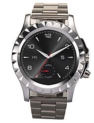 aço inoxidável relógio inteligente t2 com bluetooth 3.0 smartwatch impermeável dispositivos portáteis pulseira de relógio