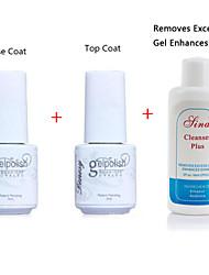 YeManNvYou®Special Preferential Combination Nail Art UV Top Coat Gel & Primer Base Coat  & Cleanser Plus