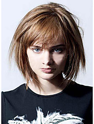 Carefree Youthful Hand Tied -Top Human Virgin Remy Capless Short Straight Hair Wigs