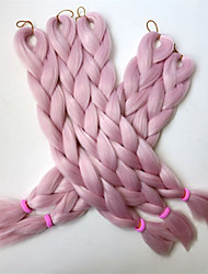"1PC 24"" 80G Queen of Pink Kanekalon Senegalese Twists Xpression Synthetic Jumbo Box Braiding Hair"