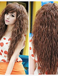 Hot Selling High-quality Brown Color for Lady Synthetic Hair Wig