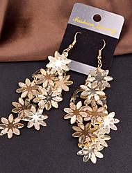Mulheres Brincos Compridos Bijuterias Destaque Europeu Personalizado bijuterias Liga Formato de Flor Jóias Para Casamento Festa Ocasião