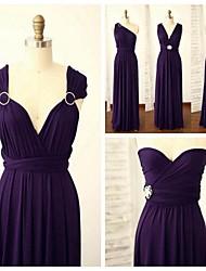 Vestido de Madrinha - Linha A Alças Longo Elastâno