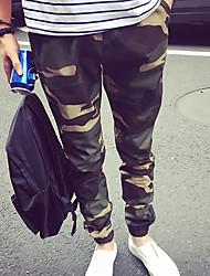 Pantalon ( Coton mélangé ) Informel Taille Normale à Skinny pour Homme
