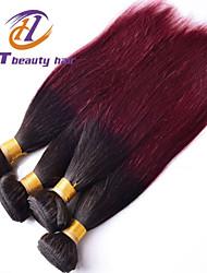 смешать размер 4шт / много 12-26inch бразильский девственные волосы прямые волосы Ombre цвет 1b / 99j необработанный человеческие волосы