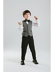 Black Polyester Ring Bearer Suit - 4 Pieces