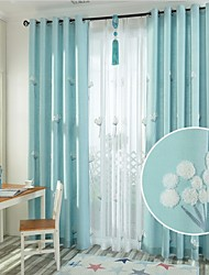 Two Panels Europe Contracted Style Cotton Embroidered The Sitting Room The Bedroom Curtains