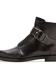 Women's Shoes Leather / Leatherette Flat Heel Fashion Boots / Combat Boots Boots Office & Career / Party & Evening