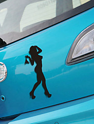 Funny Beauty Lady Car Sticker Car Window Wall Decal Car Styling