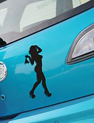 drôle mur de la fenêtre de voiture autocollant de voiture dame de beauté voiture décalcomanie style