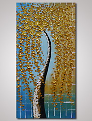 Hand-Painted Modern Abstract Tree Painting  on Canvas Knife Painting with Thick Texture Landscape Wall Art Unframed