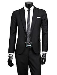 Men's Long Sleeve Regular Set , Cotton / Polyester Pure