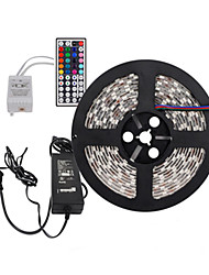 Z®zdm 5m 300x5050 smd rgb led strip light et 44key remote control et 6a us uk au alimentation (ac110-240v)
