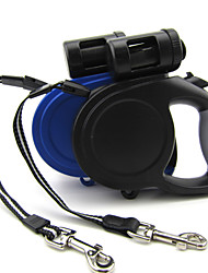 ABS 8M Automatic Retractable Lead Leashes with Garbage Bag Distributor for Big Dogs and Pets