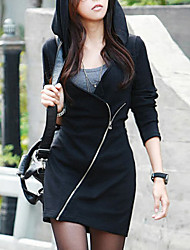 Women's Fashion Bodycon Zipper Hoodies Sweater Coat/Sexy  Casual V Neck Long Sleeve