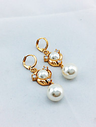 Imitation Pearl / Zircon / Copper / Rose Gold Plated Earring Drop Earrings Wedding / Party / Daily / Casual 1set