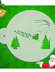 Christmas pattern Cake Top Stencil Cookie Stencil Template Wall Stencil Designs Stencil Tools for Fondant Mould ST-1292