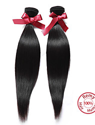 EVET Hair Products Malaysian Virgin Hair Straight 2Pcs Malaysian Straight Virgin Hair Remy Human Hair Weave Bundles