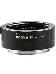 kooka de-c25 tube d'extension 3.5mm l'entrée avec auto-focus ttl explosion pour canon ef&Les appareils photo reflex ef-de