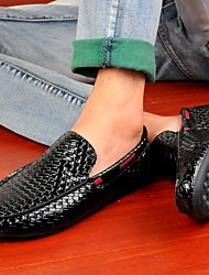 Men's Shoes Wedding / Outdoor / Office & Career / Party & Evening / Athletic / Casual Boat Shoes Black / White
