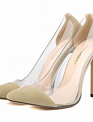 Women's Shoes Fabric / Leatherette Stiletto Heel Heels / Pointed Toe Heels Party & Evening / Dress