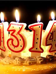 decorações da festa de aniversário - 1piece / set peça / set vela&titular eco-friendly material de conto de fadas tema branco