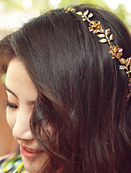 Women Ladies Golden Leaf Flower Hair Band Hair Accessories Jewelry