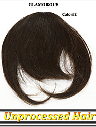 1 год гарантии 1шт / много 100% индийский необработанный девственных человеческого волоса бахрома / взрыва