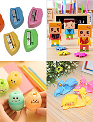 Cartoon Design Portable Pencil Sharpener Set(Assorted Pattern)