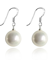 Drop Earrings Pearl Silver Plated Shell Fashion White Jewelry Party Daily Casual 2pcs