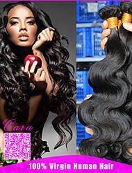 malaio virgem onda cabelo corpo 3pcs natrual produtos de cabelo de rosa preto barato cabelo humano 100g feixes onda do corpo da Malásia