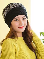 Women Cute Screw Thread Acrylic Beanie Skullies Hats LD00068