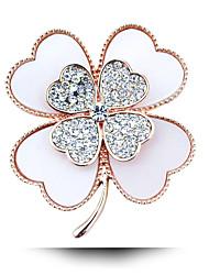 diamante de acrílico broche de trébol