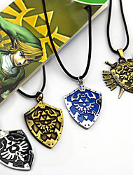 Jewelry Inspired by The Legend of Zelda Cosplay Anime/ Video Games Cosplay Accessories Necklace Black / Yellow / Blue / Golden AlloyMale