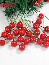 1.5cm 10 ein Paket von zehn roten Früchten auf Weihnachtsbaum, Weihnachtskranz Rohr Anzüge Weihnachtsschmuck hängen