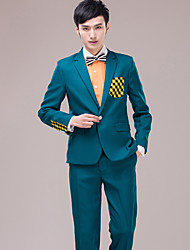 Men's Suits for Performances   Presided Over  Wedding   Party   Important Occasions  Ink  Green Suit Set 4490