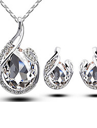 Velo Women Platinum-Plated Jewellery Sets ,Two-Piece Suit of Necklace and Earrings