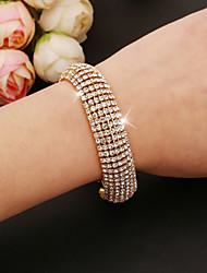 Goud / Zilver Dames Tennis Armbanden Bergkristal