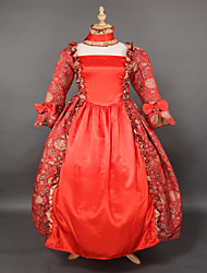 Top SALE Red Brocade Printing Lolita  Gothic Prom Dress Marie Antoinette Inspired Dress Wholesalelolita Evening Dress