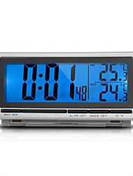Car F/C Thermometer Clock Alarm LED Blue Backlight Digital LCD Display 12V